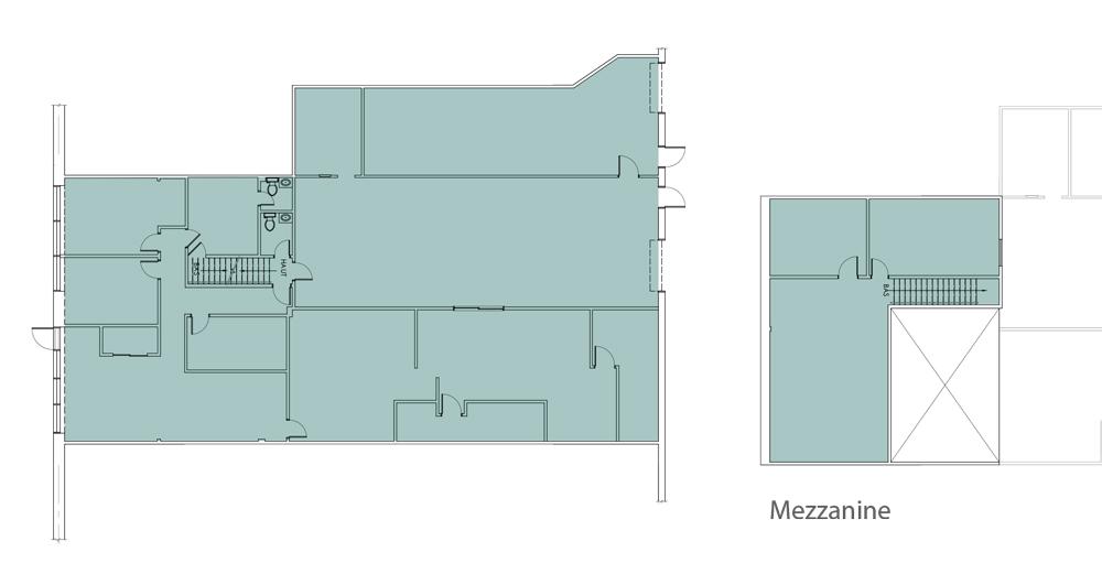 4500 pieds carrés avec mezzanine